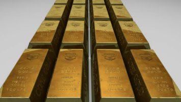 Gold Barren aufgereiht