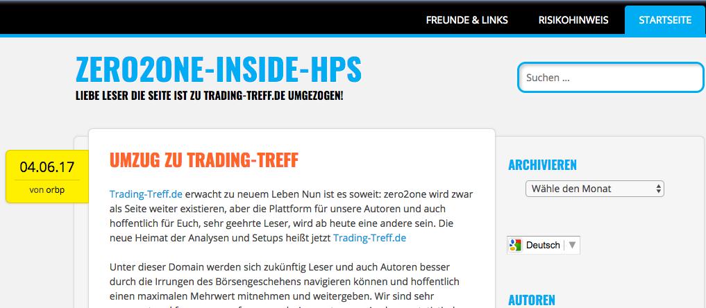 Willkommen auf Trading-Treff ab April 2017