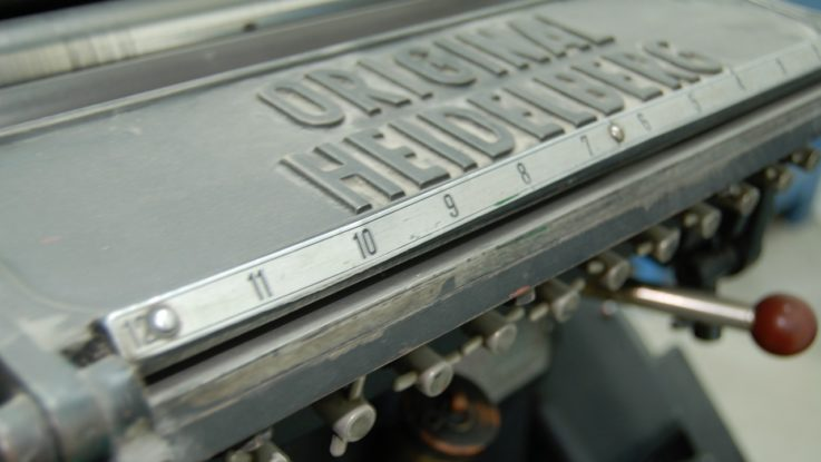 Druckmaschine der Heidelberger Druckmaschinen AG