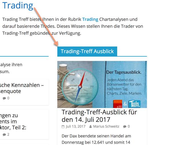 Trading-Treff-Tagesausblick verortet