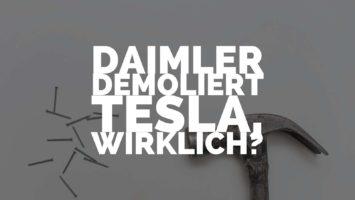 Daimler demoliert Tesla