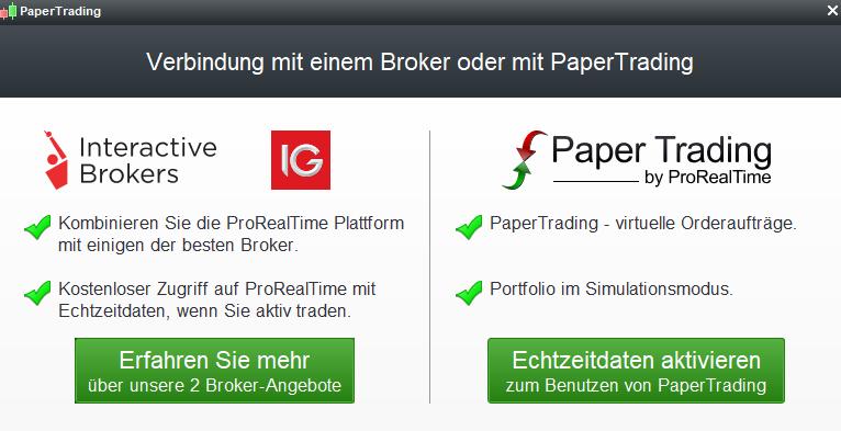 ProRealTime vermittelt an IG und Interactive Brokers