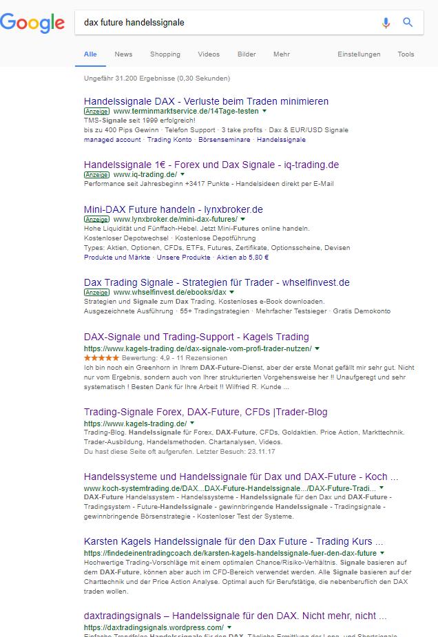 Karsten Kagels auf Seite 1 der Google-Suche
