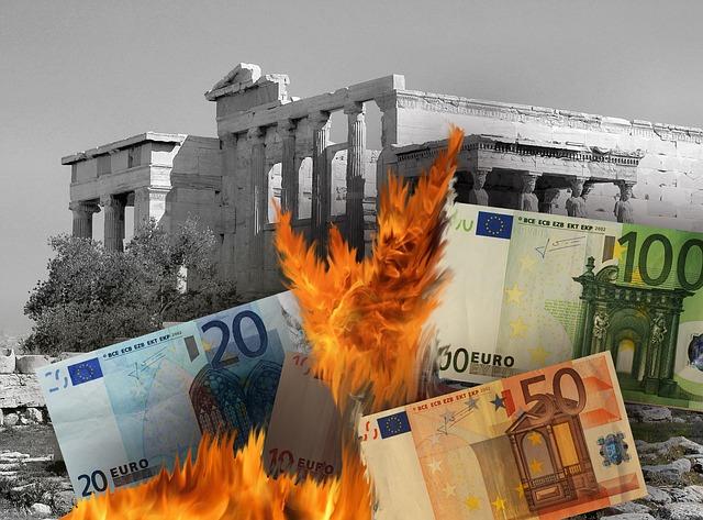 Brennender Euro