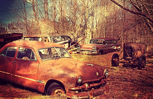 rostige Autos