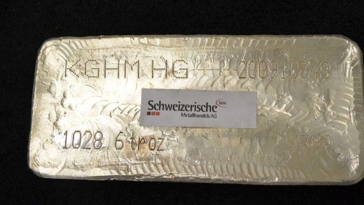 Silberbarren der Metallhandels AG