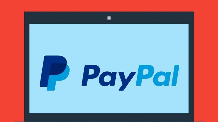 PayPal Logo auf LapTop