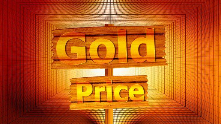 Goldpreis Schild
