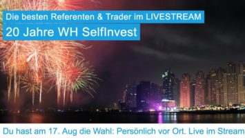 Trading-Event im Traderhotel: 20 Jahre WH Selfinvest mit vielen Vorträgen
