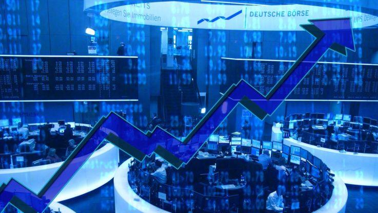 Börse in Frankfurt - Handelssaal
