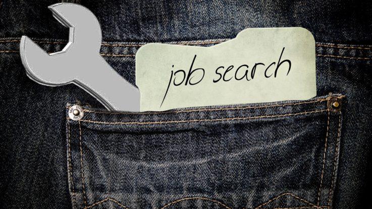 Person auf Jobsuche