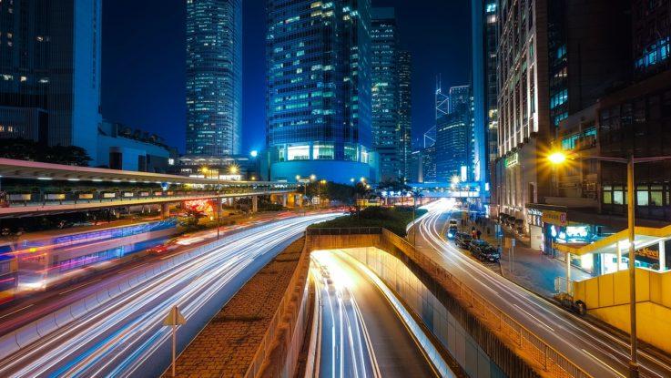 Aufnahme von Hongkong bei Nacht