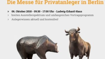 Börsentag Berlin 2018 für Anleger - Treffpunkt und Informationstag