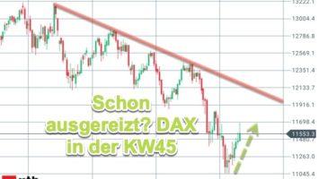 Wende am Aktienmarkt von Dauer? DAX-Chartanalyse KW45