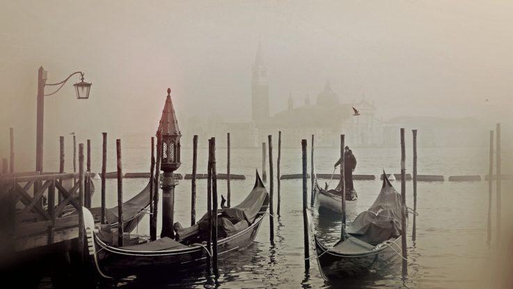 Venedig (Italien) im Nebel