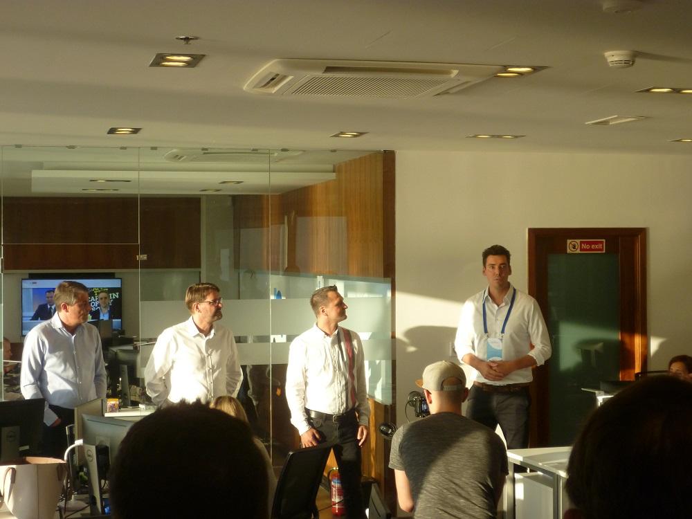 Team Nextmarkets Malta mit Volker Hansen und CEO Manuel Heyden