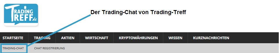 Trading-Chat von Trading-Treff in der Navigation