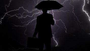 Gewitterwolken über deutschen Banken