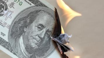 Geld verbrennt
