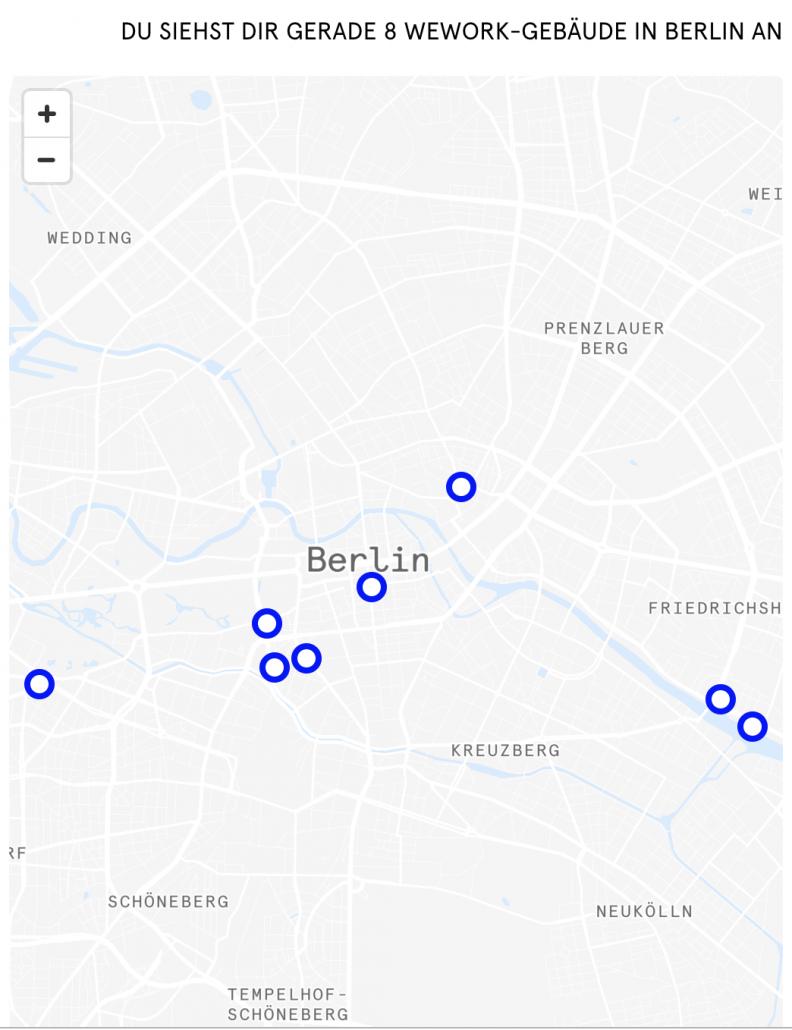 Wework in Berlin: Standorte auf Karte