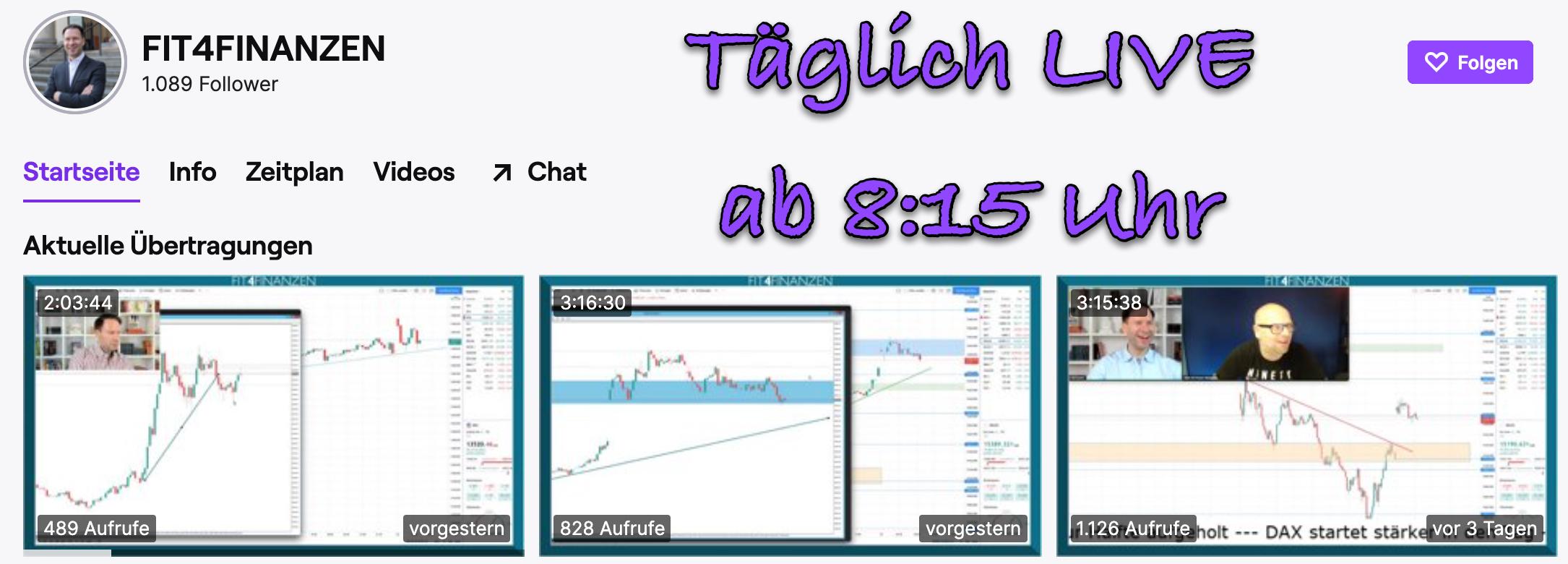 Twitch-Kanal FIT4FINANZEN